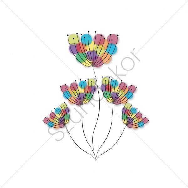 Színes virág
