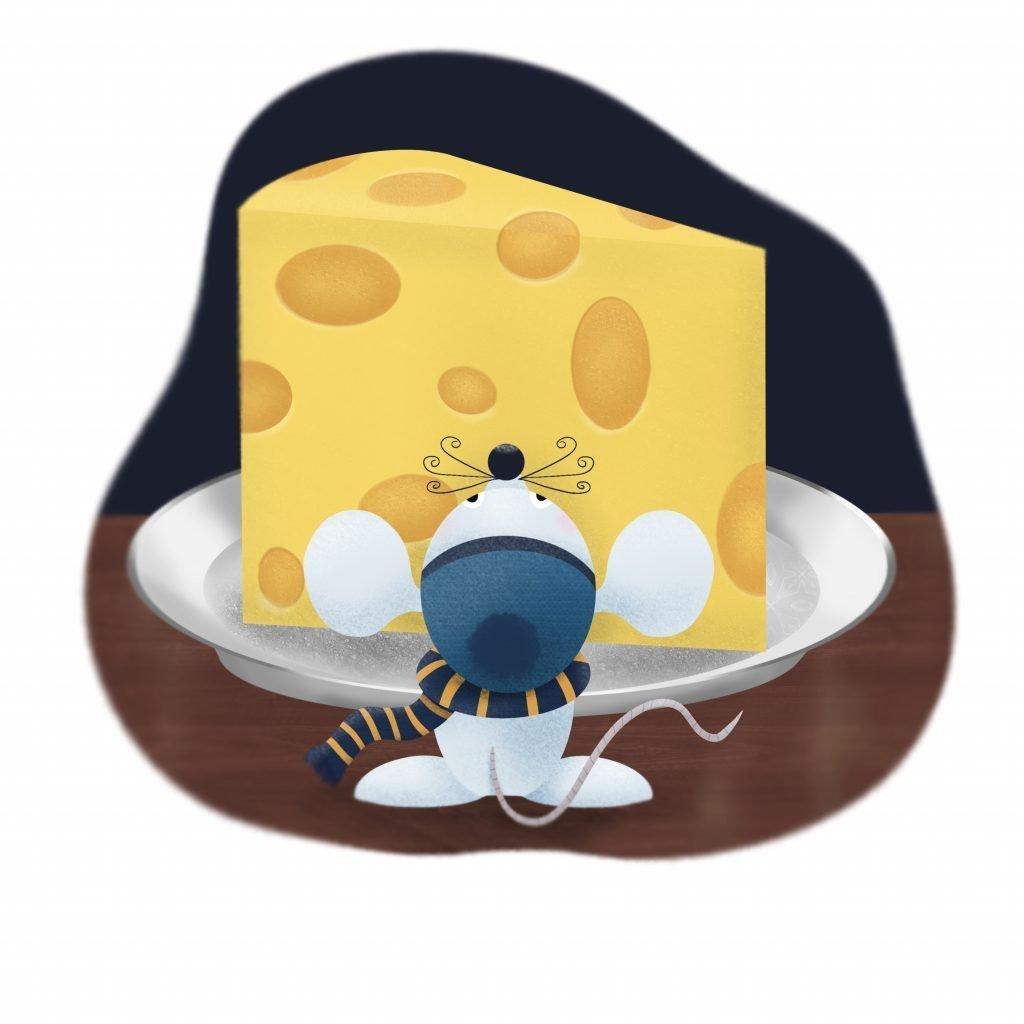 Egér és sajt